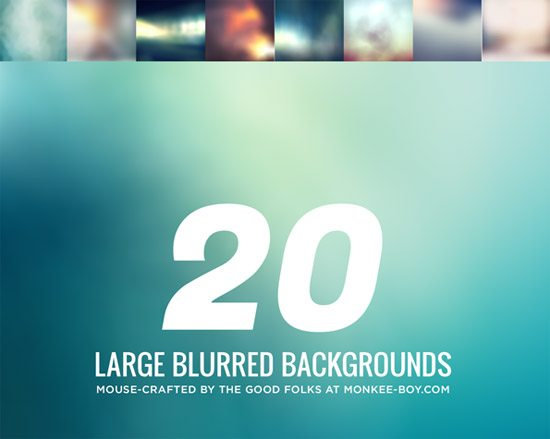 20 Large Blurred Backgrounds