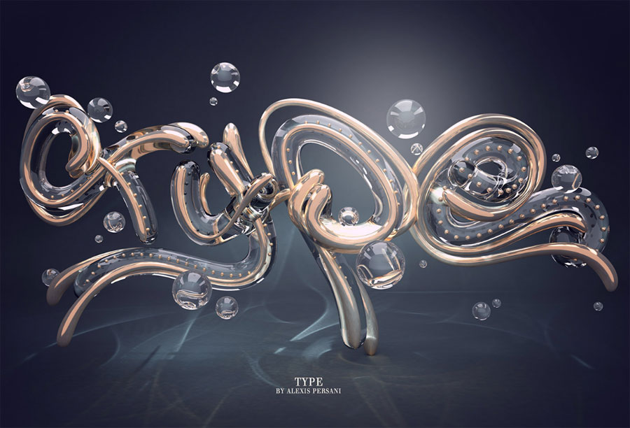 Jaw-Dropping 3D Typography by Alexis Persani