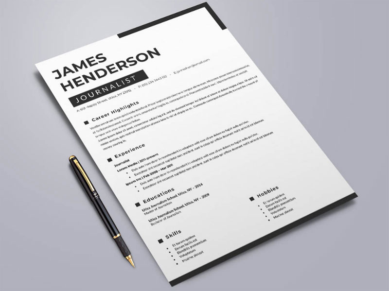 Exceptional Free Resume Templates by Andy Williams